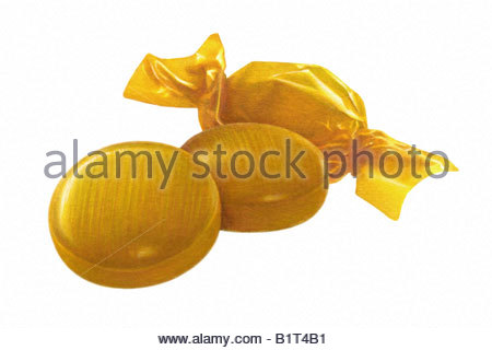 Butterscotch Candies - Stock Image