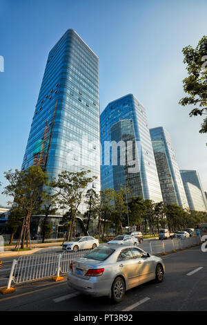 Modern high-rise buildings in Shenzhen city. Guangdong Province, China. - Stock Image