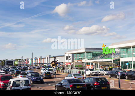 ASDA and other retail stores at the Middlebrook retail and leisure park, Horwich, near Bolton. - Stock Image