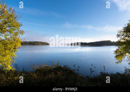 Misty Morning on the western side of Lower Lough Erne Fermanagh - Stock Image