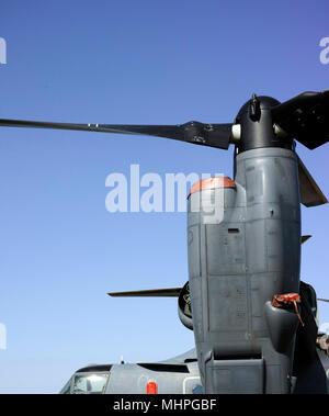 Bell Boeing V-22 Osprey details at ILA 2018 - Stock Image