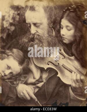 The Whisper of the Muse / Portrait of G.F. Watts; Julia Margaret Cameron, British, born India, 1815 - 1879; Freshwater, - Stock Image