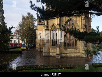 St Luke's `Bombed Out' church in Liverpool - Stock Image