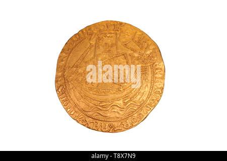 Coins dating back to Edward I reign found near Whitewell, Bronington, UK - Stock Image