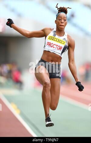 Osaka, Japan. 19th May, 2019. Proctor Shara Athletics : IAAF World Challenge Seiko Golden Grand Prix 2019 Osaka Women's Long Jump Final at Yanmar Stadium Nagai in Osaka, Japan . Credit: Naoki Nishimura/AFLO SPORT/Alamy Live News - Stock Image