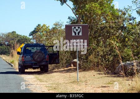 Maytreas Garden Stop, View Point, Chapada dos Veadeiros, Veadeiros Tableland, Goias, Brazil - Stock Image