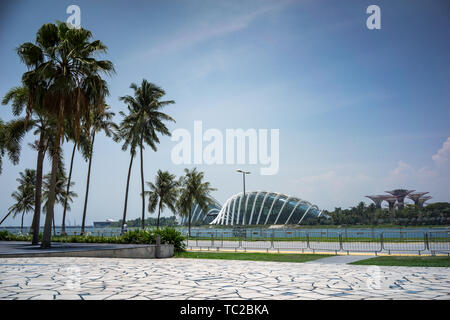 The Flower Dome in Marina Bay in Singapore - Stock Image