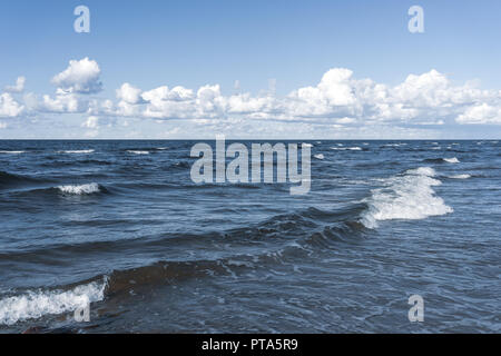 Waves on the Baltic in the summer - Stock Image