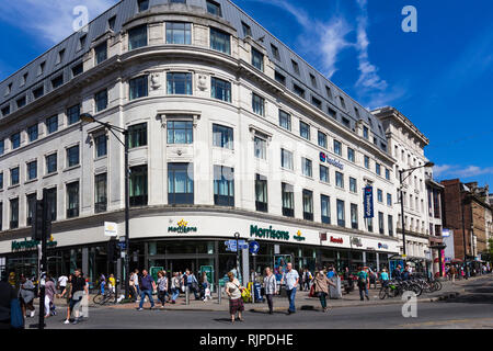 Morrisons supermarket store in Piccadilly Gardens, Manchester - Stock Image