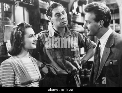 PASSPORT TO PIMLICO 1949 Ealing Studios film with from left: Barbara Murray, John Slater,  Paul Dupuis - Stock Image