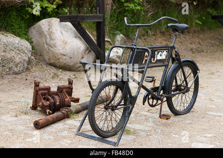 Old carrier cycle - Stock Image