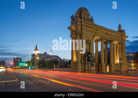 The Charlottenburg Gate at Twilight, Tiergarten, Berlin - Stock Image