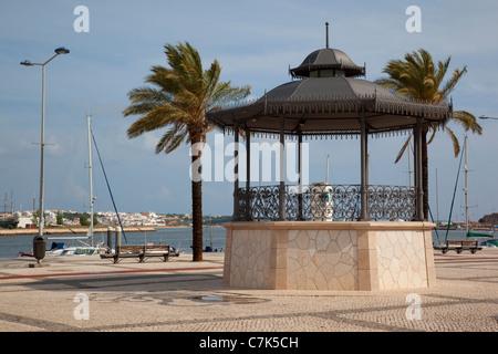 Portugal, Algarve, Portimao, Bandstand on Largo 1 De Dezembro - Stock Image