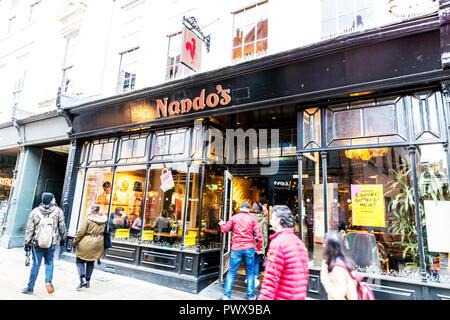 Nando's Restaurant chain, Nando's Restaurant York, Nando's Restaurant, Nando's, Restaurant, Restaurant company, Restaurants, Nando's logo, Nando's UK - Stock Image