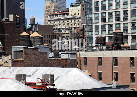 Landscape of Midtown rooftops, New York, NY, USA - Stock Image
