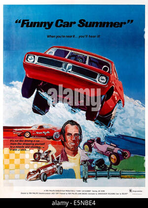 FUNNY CAR SUMMER, US poster, Jim Dunn, 1974 - Stock Image