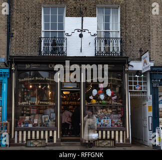 A famous sweet shop in the centre of Cambridge (England) - Stock Image