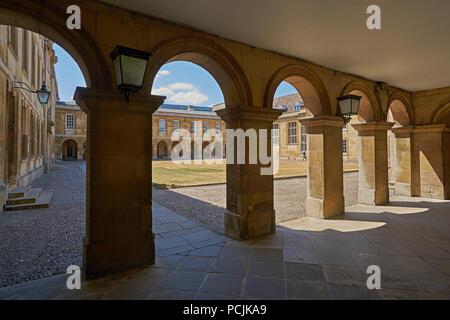 Emmanuel College cloister - Stock Image