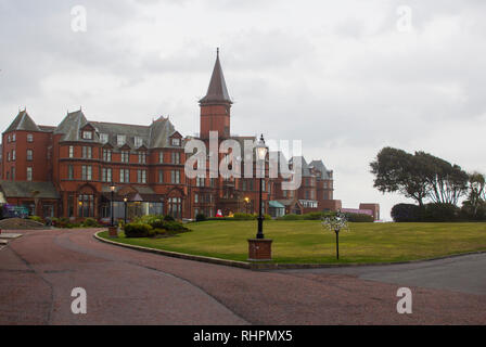 14 December 2018 Slieve Donard Hotel Newcastle County Down. This premier luxurious Hotel seen here in mid December  is located on the shore of Dundrum - Stock Image