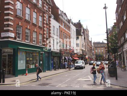 Dean Street Soho London August 2018 - Stock Image