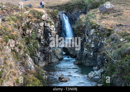 Waterfall at the Fairy Pools on the River Brittle, Isle of Skye, Highland Region, Scotland, UK - Stock Image