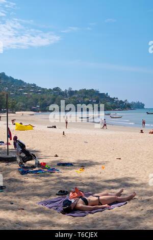 Hat Kamala, beach, Kamala, Phuket island, Thailand - Stock Image