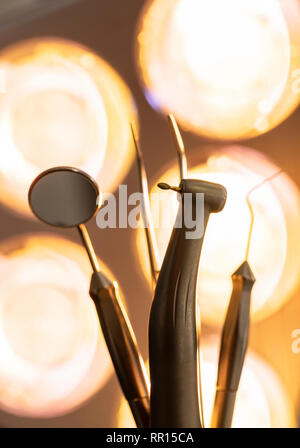 Dendal equipment close up - Stock Image