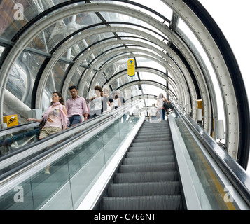 Escalator in Centre Pompidou Paris France EU - Stock Image