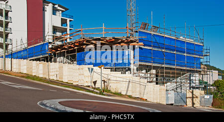 Gosford, New South Wales, Australia - May 19. 2018: Construction and building progress update 81.  on new home units building site at 47 Beane St. - Stock Image
