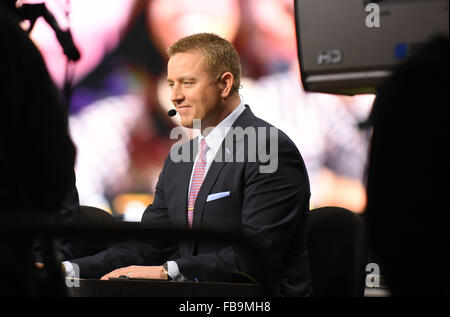 Glendale, AZ, USA. 11th Jan, 2016. Kirk Herbstreit of ESPN during the 2016 College Football Playoff National Championship - Stock Image
