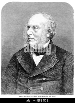 Sir Rowland Hill k c b f r s Secretary to the Post Office - Stock Image