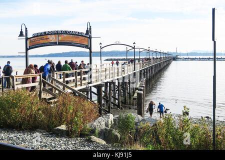 White Rock Pier in B.C. Canada. - Stock Image