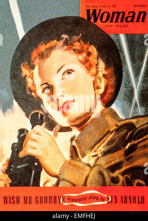 A World War 2 Woman Magazine October 1943 - Stock Image