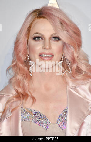 London, UK. 27th September 2018. Courtney Act attend A Star Is Born UK Premiere at Vue Cinemas, Leicester Square, London, UK 27 September 2018. Credit: Picture Capital/Alamy Live News - Stock Image