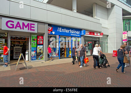 Traffic free downmarket shopping extension of the High Street of IPSWICH the county town of Suffolk - Stock Image