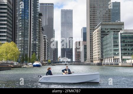 Editorial Use Only Singer Nathan Evans Who Went Viral On Tiktok Last Year With His Sea Shanty Titled Owellermano Performs Onboard A Goboat In Canary Wharf As The Eco Friendly Self Drive Boating Company