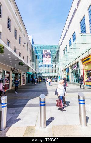 Drake Circus Shopping Centre Plymouth, Devon, UK, England, Drake Circus Plymouth, Plymouth Shopping Centre, Plymouth shopping, Plymouth shops, stores - Stock Image