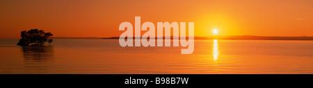 Sunrise over Moreton Bay Queesland - Stock Image