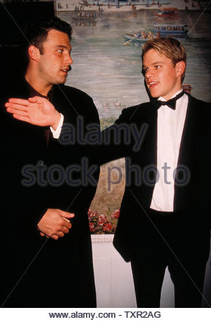 Ben Affleck And Matt Damon At The National Board Of Review Annual Gala, Tavern On The Green, New York City 02-09-1998. Credit: 3769261Globe Photos/MediaPunch - Stock Image