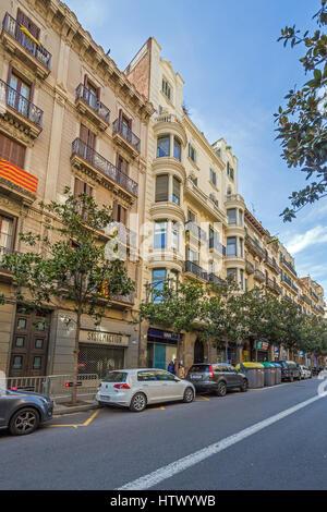 Carrer Gran de Gràcia 54, Barcelona, Catalonia - Stock Image