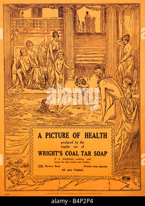1915 advertisement for Wright's Coal Tar Soap  FOR EDITORIAL USE ONLY - Stock Image