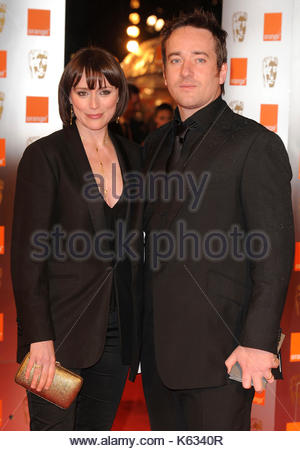 Keeley Hawes and Matthew MacFadyen. Keeley Hawes and Matthew MacFadyen arriving for the British Academy Film Awards - Stock Image
