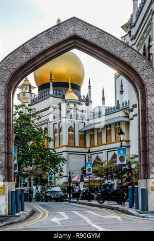 Masjid Sultan / Sultan Mosque in Kampong Glam, Singapore - Stock Image