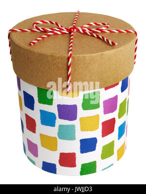 Round Gift Boxes - Stock Image
