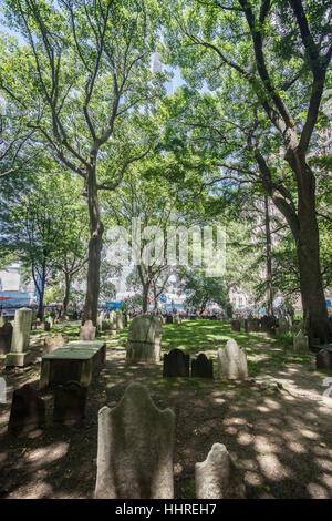 St Paul Churchyard New York City - Stock Image