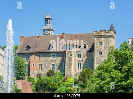 France, Auvergne, Allier, Montlucon, Dukes of Bourbon castle. - Stock Image