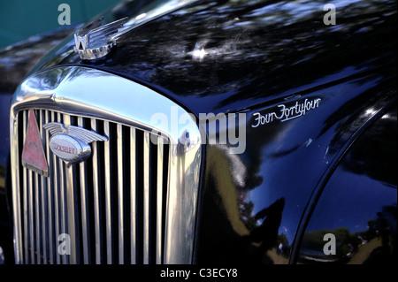 vintage black Wolseley Four Fortyfour (aka 4/44), classic British motor car - Stock Image