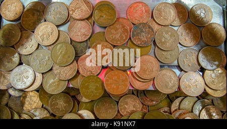 Old fashioned arcade money pushing machine - Stock Image