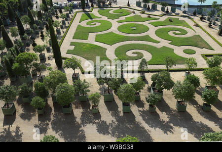 Beautiful garden in a Famous palace Versailles. The Palace Versailles was a royal castle . It was added to the UNESCO list of World Heritage Sites. Pa - Stock Image