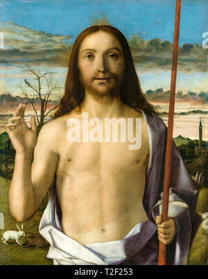 Giovanni Bellini, Christ Blessing, painting, circa 1500 - Stock Image